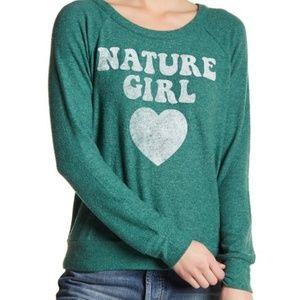 Chaser Womens XS S M Sweatshirt Nature Girl